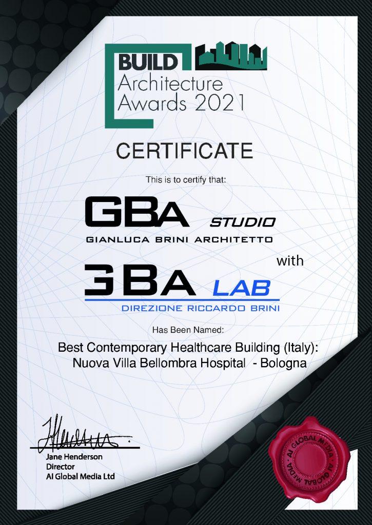 Premio Build Architettura Nuova Villa Bellombra
